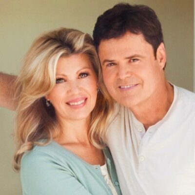 Donny Osmond with his wife Photo