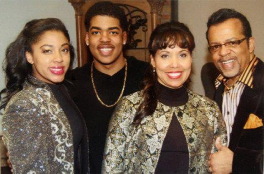 Julian D'Metrius Pearson (center left) is Carlton Pearson's son, he is alive and in good shape.