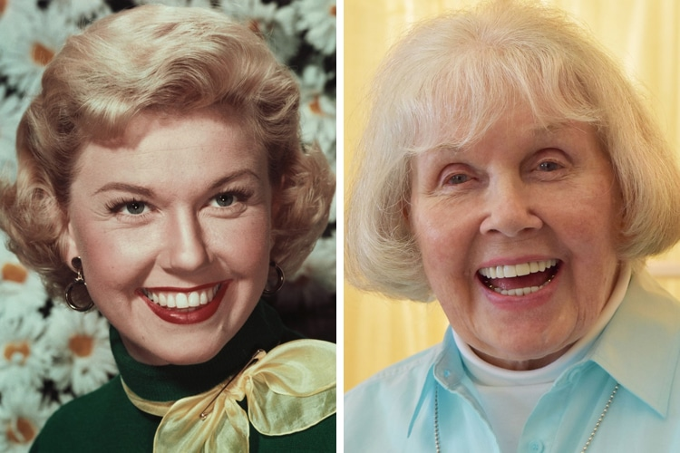 Doris Day young and old photo