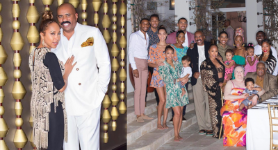 Steve Harvey with his wife and Family Photos