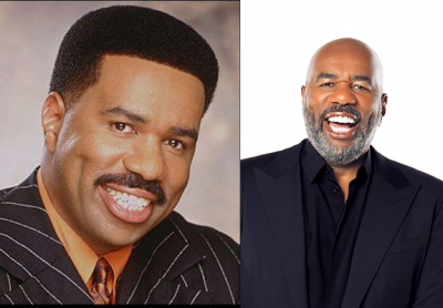 Steve Harvey young and Now Photos