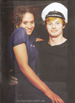 Photo of Bradley James and Angel Coulby