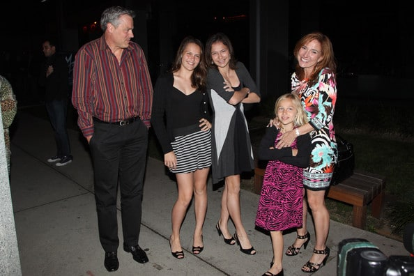 Photo of Marilyn Milian with her husband and children in West Hollywood