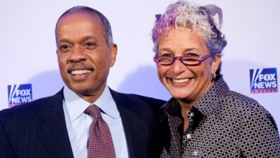 Juan Williams and his wife Susan Delise Photos