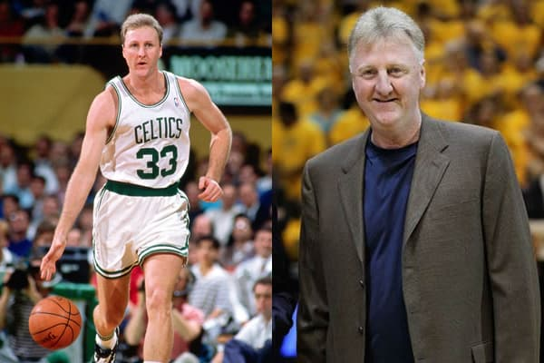 Larry Bird's Young and now Photo