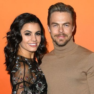 A photo of Derek Hough with his girlfriend