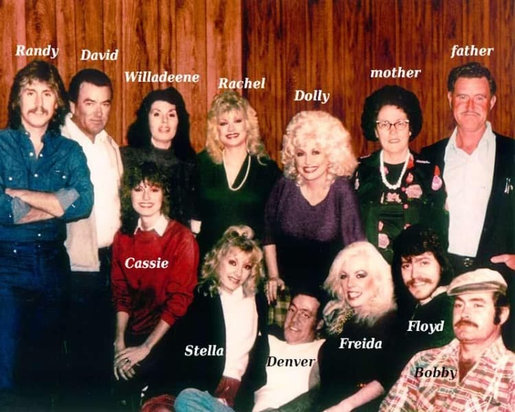 Dolly parton and her family