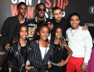Sean Combs (P Diddy) and his kid's Photo