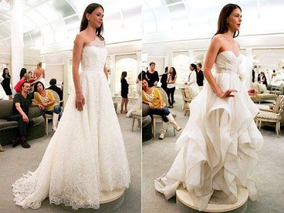 sutton foster wedding dress