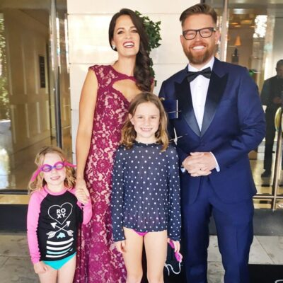 Richard Blais with his wife and kids Photo