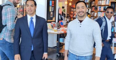Julian Castro and his twin brother Photo