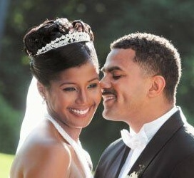 Glenda and her husband Khann on their wedding day Photo