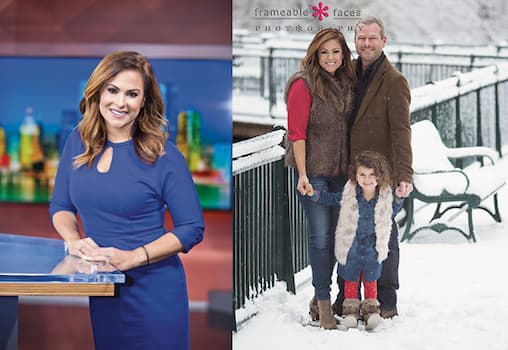 Taryn Asher with her husband Jason Carr and daughter Photo