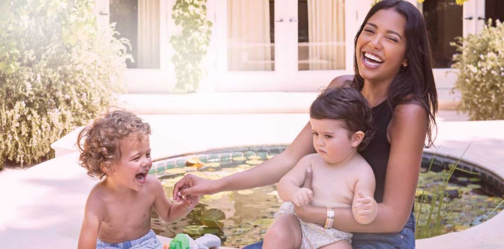 Emma Grede and her children Photo