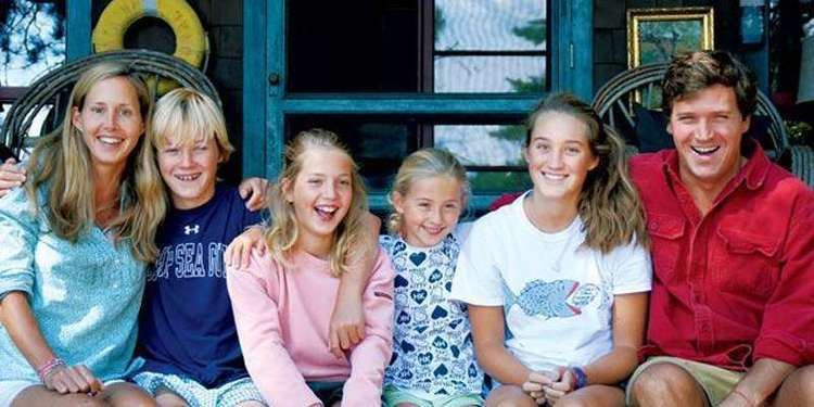 Photo of Susan Andrews with her son, daughters and her husband