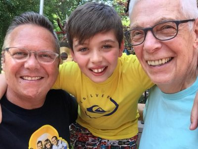 From Left: Nick, Gus, Nick's Father