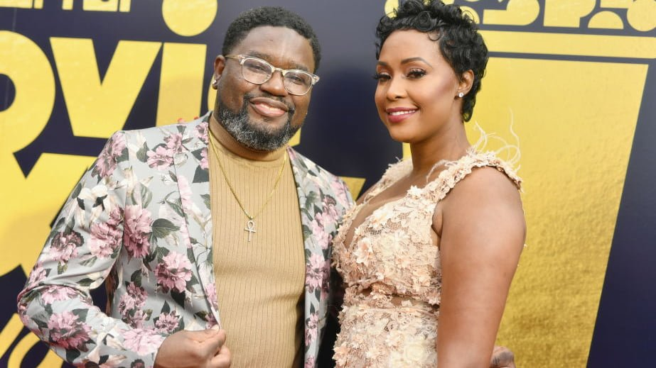 Images of Verina Howery and her former spouse, Lil Rel