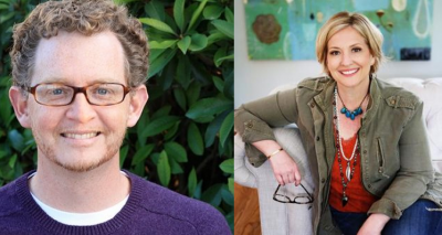 Steve Alley and Brene Brown's photo