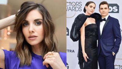 Alison Brie with her husband Photos