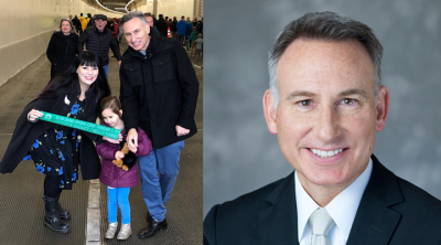 Dow Constantine with his wife and daughter Photos