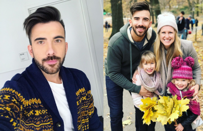 Jeremy Parsons with his wife and daughters Photos