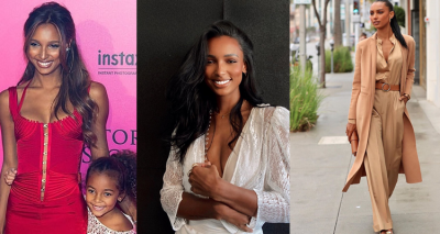 Jasmine Tookes with her daughter Images
