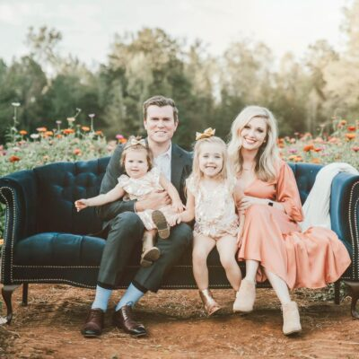 Justin Wilfon, his wife and kids
