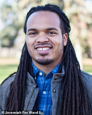 A photo of Keith Ellison's son, and the Ward 5 representative on the Minneapolis City Council in MinnesotaJeremiah Ellison