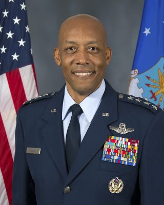 A photo of United States Air Force general, Gen. Charles Brown Jr