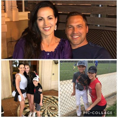 Mark Derosa with his wife and kids Photos