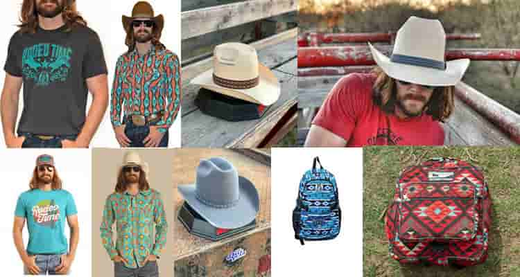 Photos of Dale Brisby Merch, Shirts, Hats and Bagpacks.
