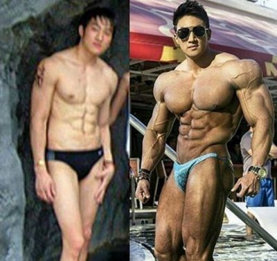 Chul Soon now and before Photo