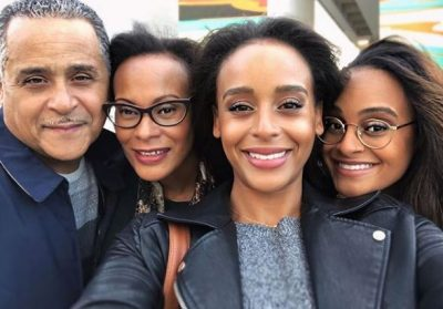 Presilah Nunez with her parents and sister during a family outing at Downtown Tampa on 22 December 2018 Photo