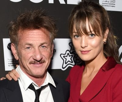 A photo of Sean Penn with his Wife Leila George