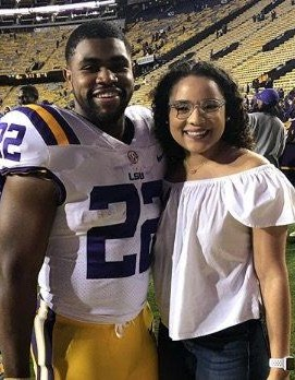 Photo of NFL player Clyde Edwards-Helaire iwth his girlfriend Desiree Jones
