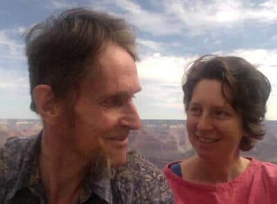 Claire McConnell and her husband Richard Jerram Photo