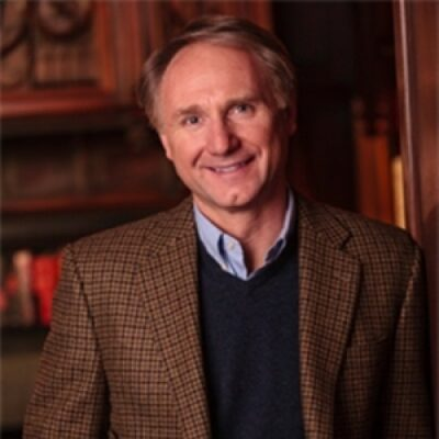 Dan Brown- author well known for his novels including the Robert Langdon novels Angels & Demons (2000)