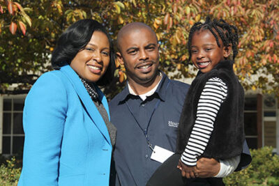 Timothy Granison, his wife Lovely Warren, and their daughter Taylor Granison Photo