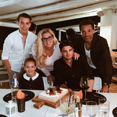 Photo of Gino and Jessica with their three children - Luciano, Rocci and Mia