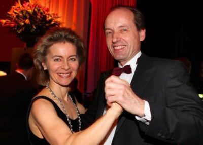 Heiko von der Leyen and his wife Photo