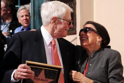 Joan and her Late Husband Peter Graves at the Hollywood Walk of Fame